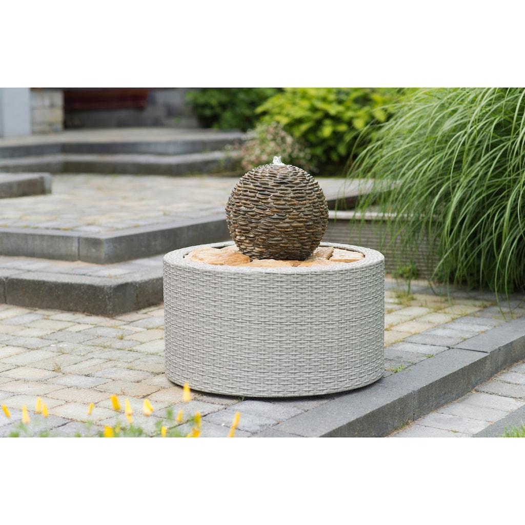 Ubbink Brunnenumrandung »DecoWall Wicker 7«, ØxH 72,5x38,5 cm, grau