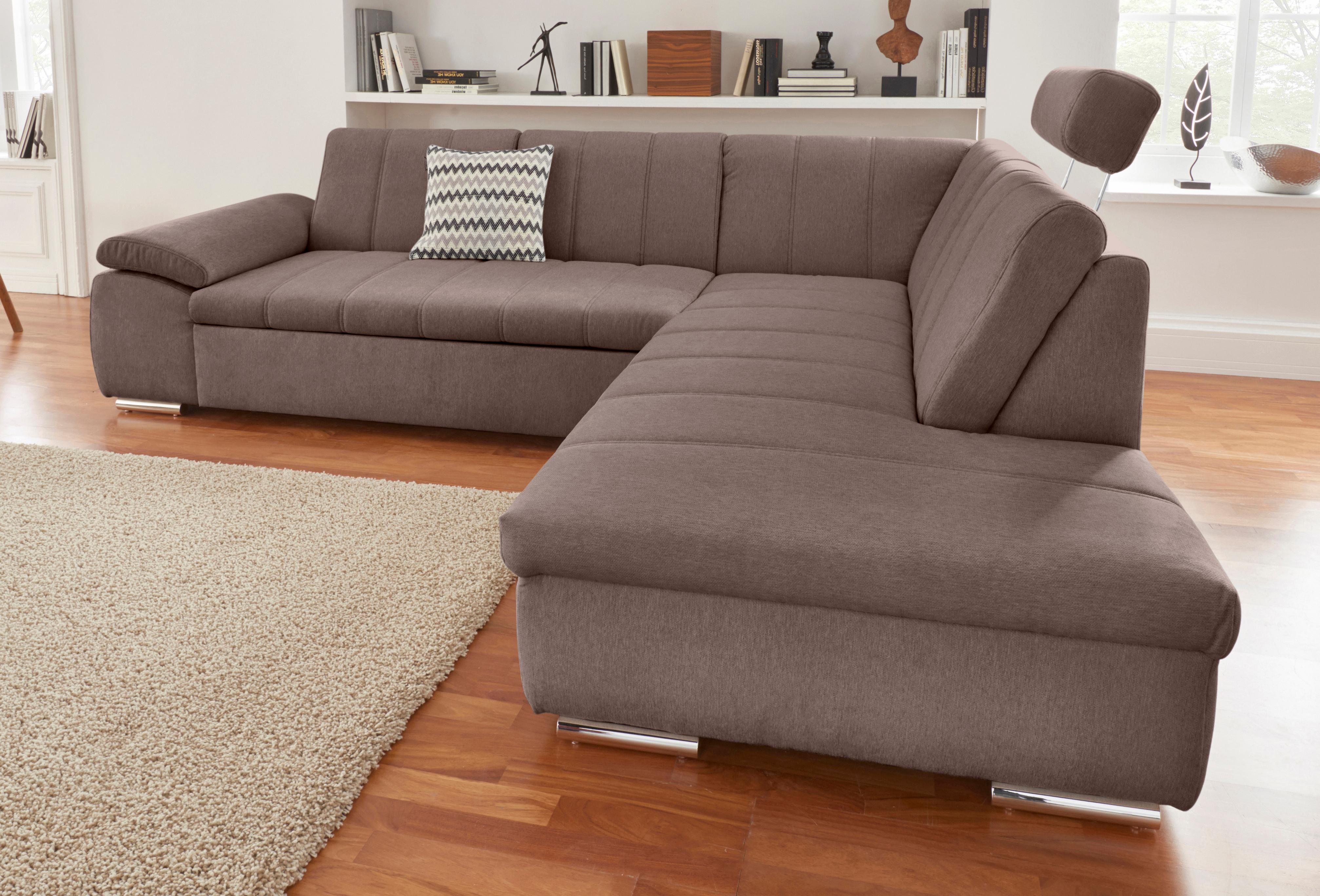 DOMO collection Ecksofa | Wohnzimmer > Sofas & Couches > Ecksofas & Eckcouches | Braun | Chenille | Domo Collection