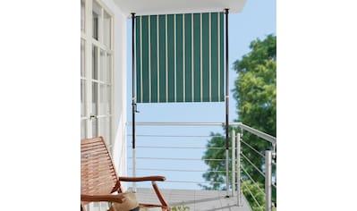 ANGERER FREIZEITMÖBEL Klemm - Senkrechtmarkise grün/weiß, BxH: 150x225 cm kaufen