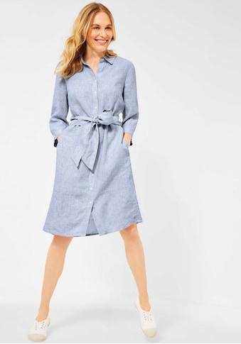 Cecil Blusenkleid, (Set, mit Bindegürtel), Leinenkleid mit feinem Streifenmuster kaufen