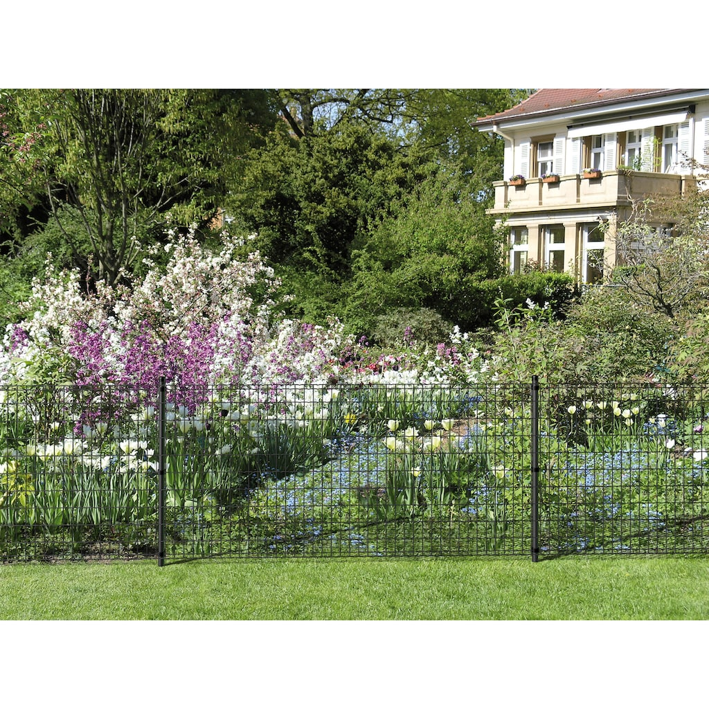 GAH Alberts Schweissgitter »Fix-Clip Pro®«, 81 cm hoch, 10 m, anthrazit beschichtet, mit Bodenhülsen