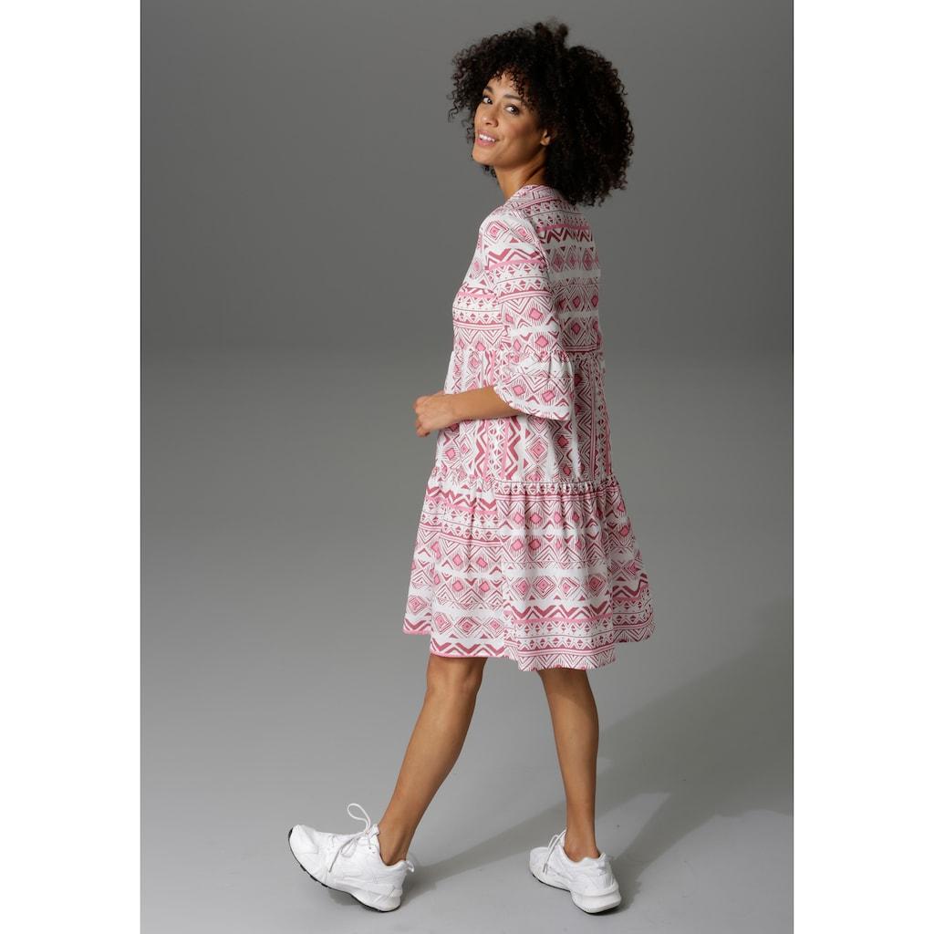 Aniston CASUAL Sommerkleid, im Folklore-Look - NEUE KOLLEKTION