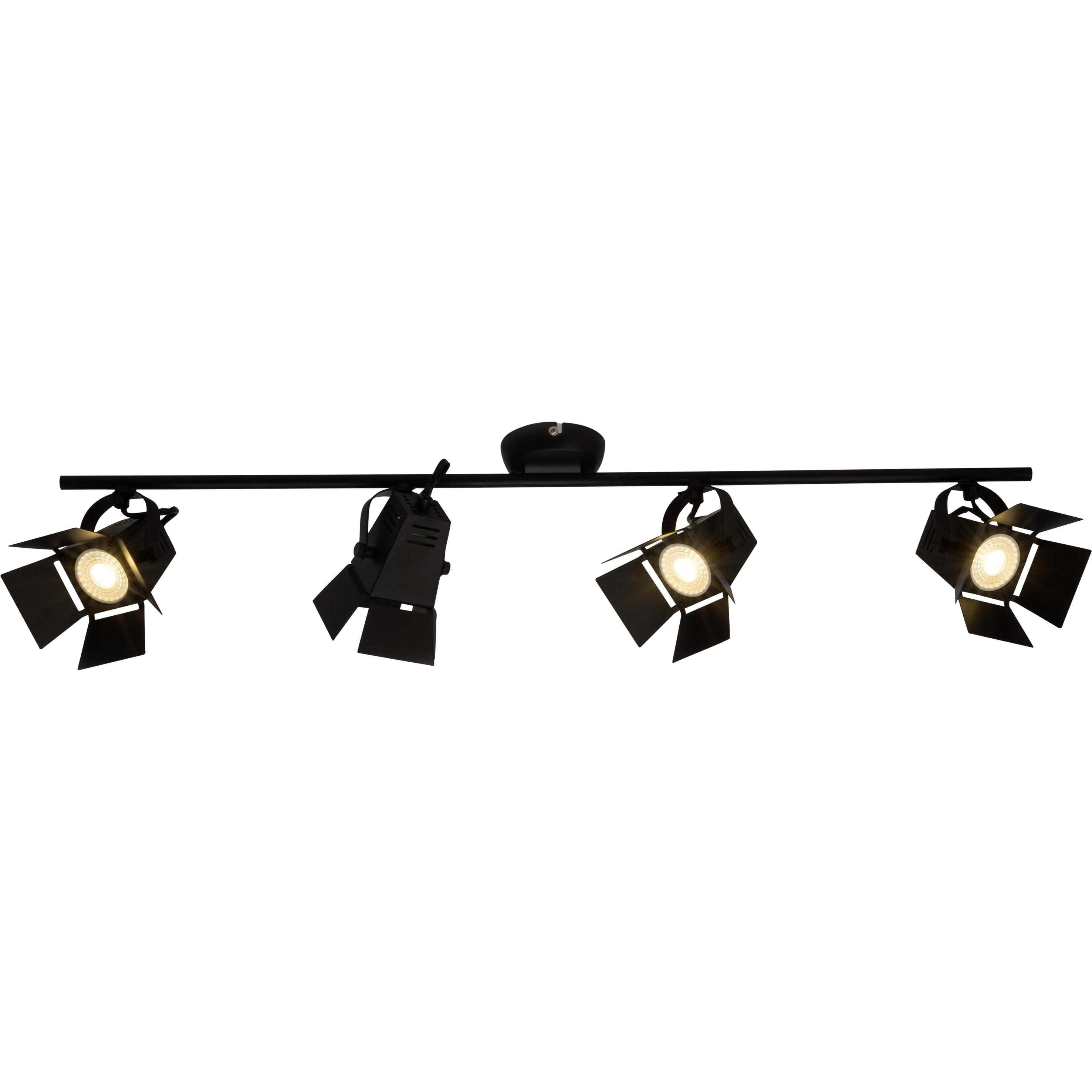 Brilliant Leuchten Movie LED Spotrohr 4flg schwarz matt