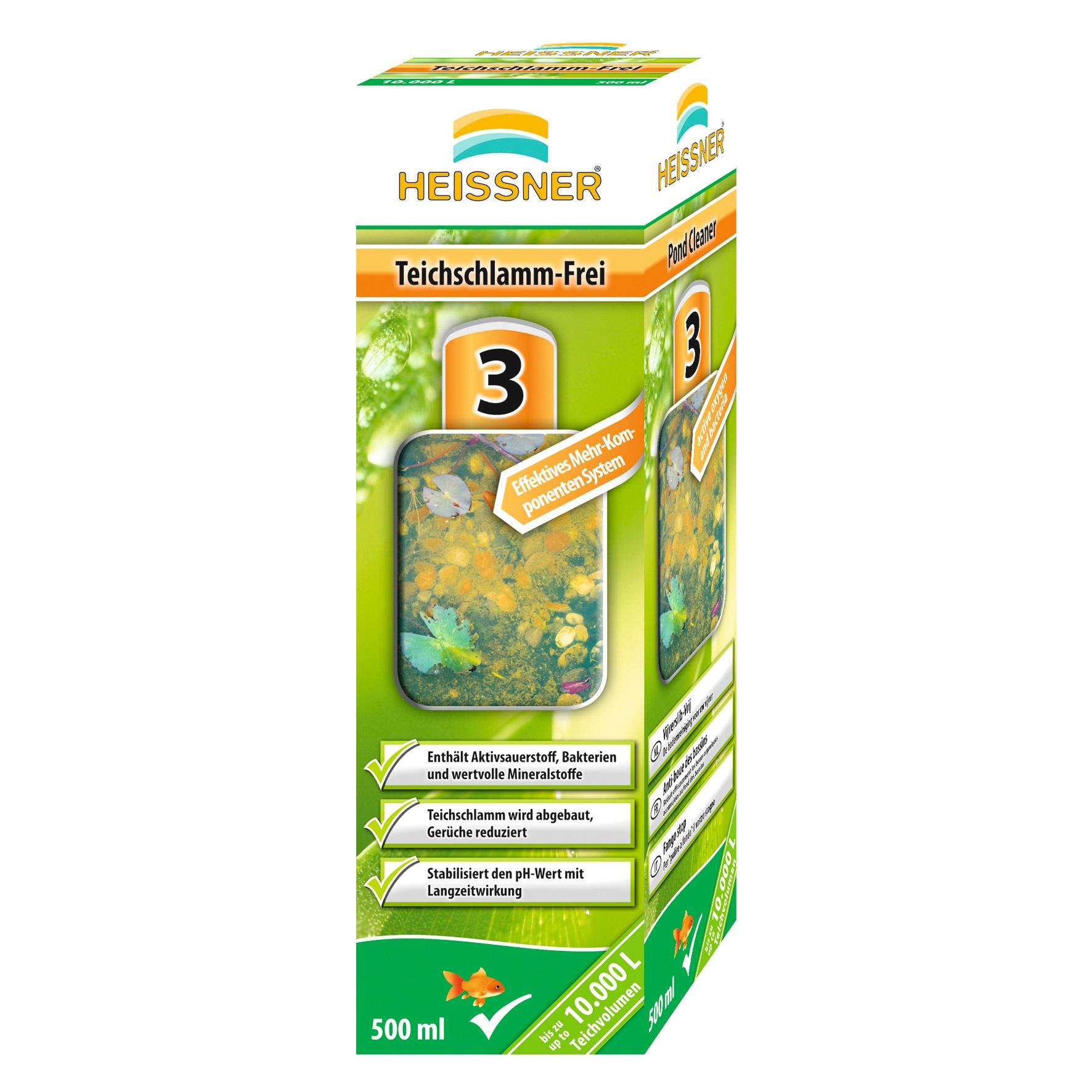 Heissner Teichpflege Teichschlammfrei, 500 ml grün Teichzubehör Teiche Garten Balkon