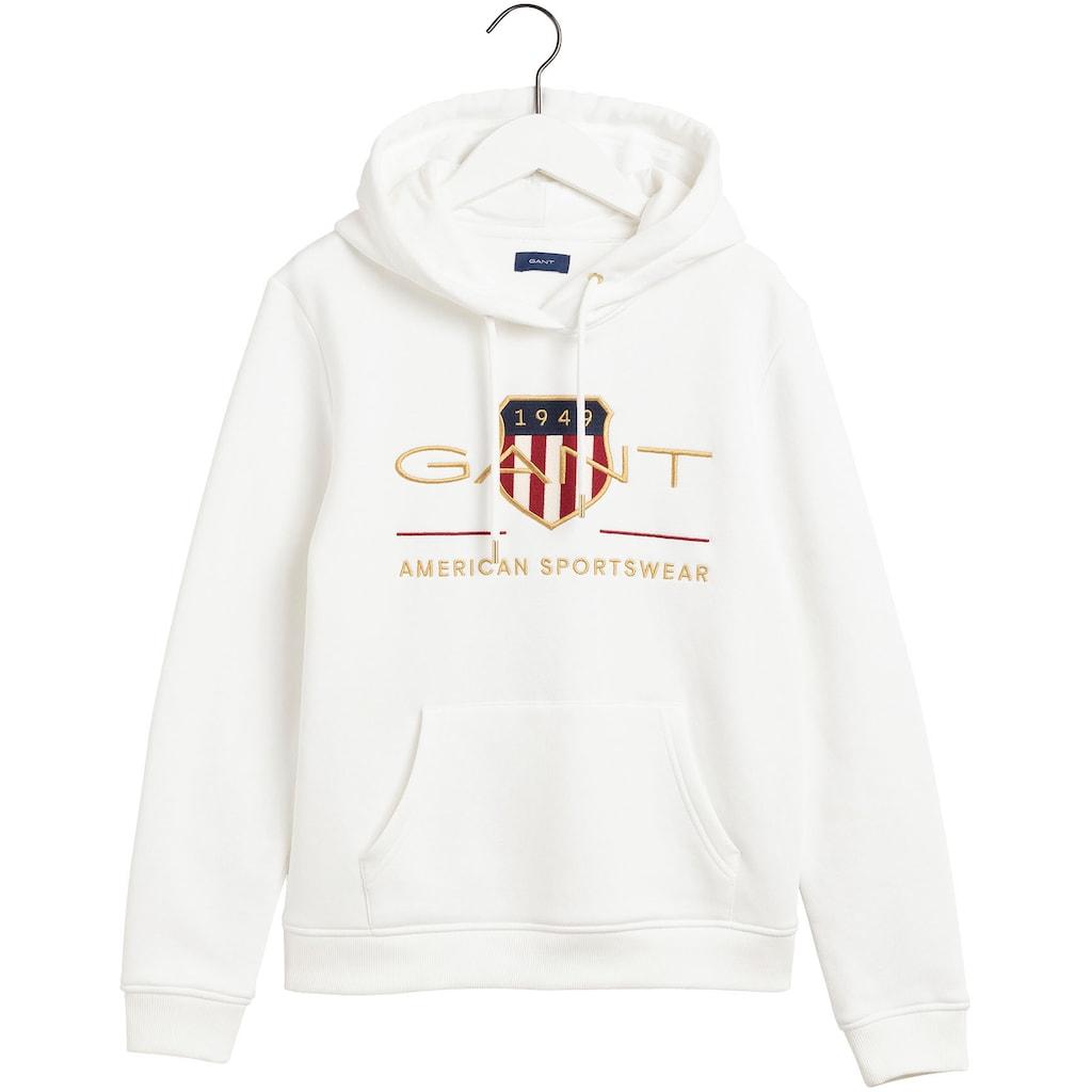 Gant Sweatshirt, mit schöner Logo-Stickerei vorne