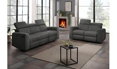 Home affaire Polstergarnitur »Sentrano«, (Set, 2 tlg.), bestehend aus dem 2- und 3 Sitzer, wählbar zwischen manueller oder elektrischer Relaxfunktion kaufen