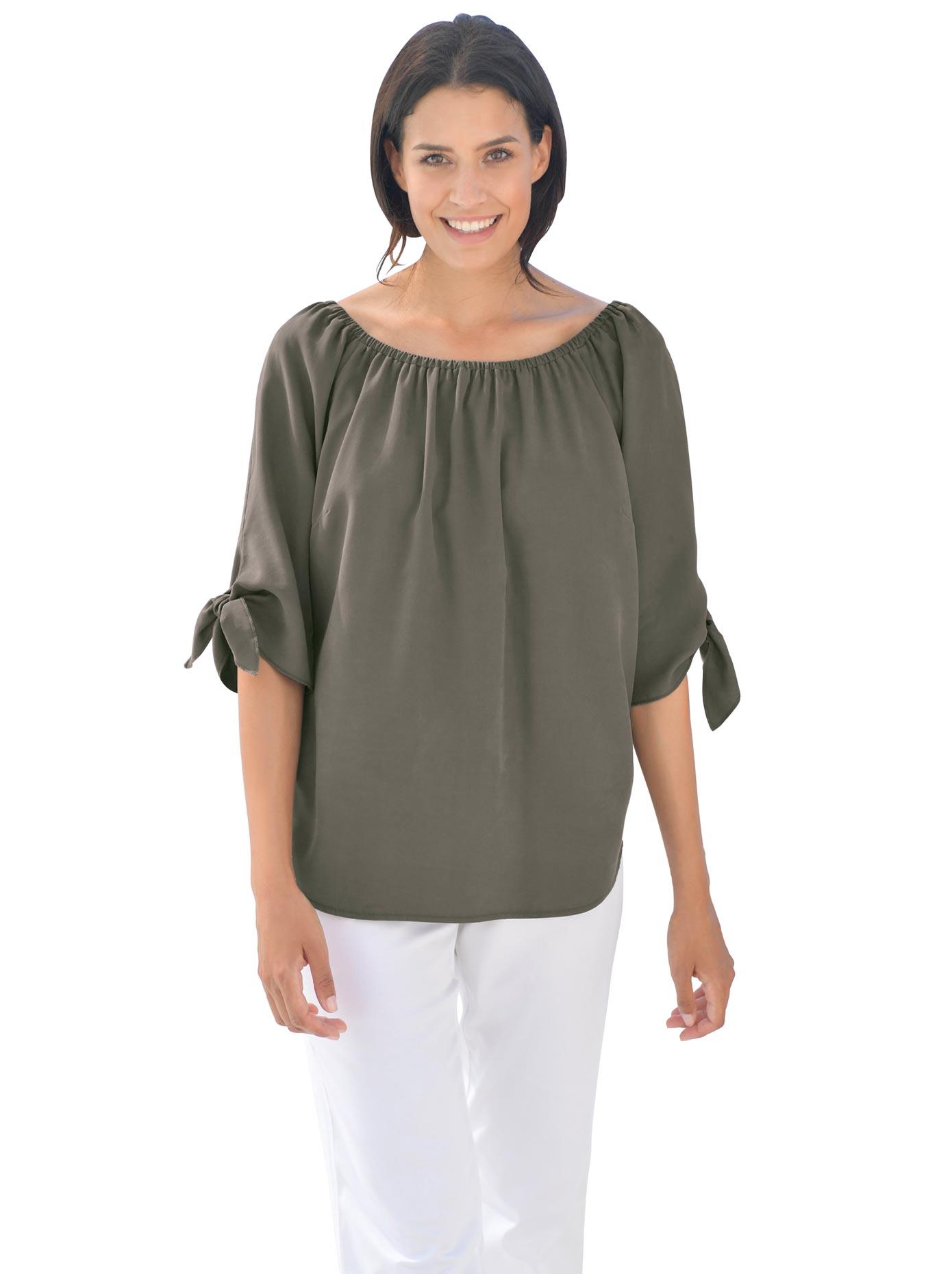 création L Bluse mit Zierknopfleiste im Rücken