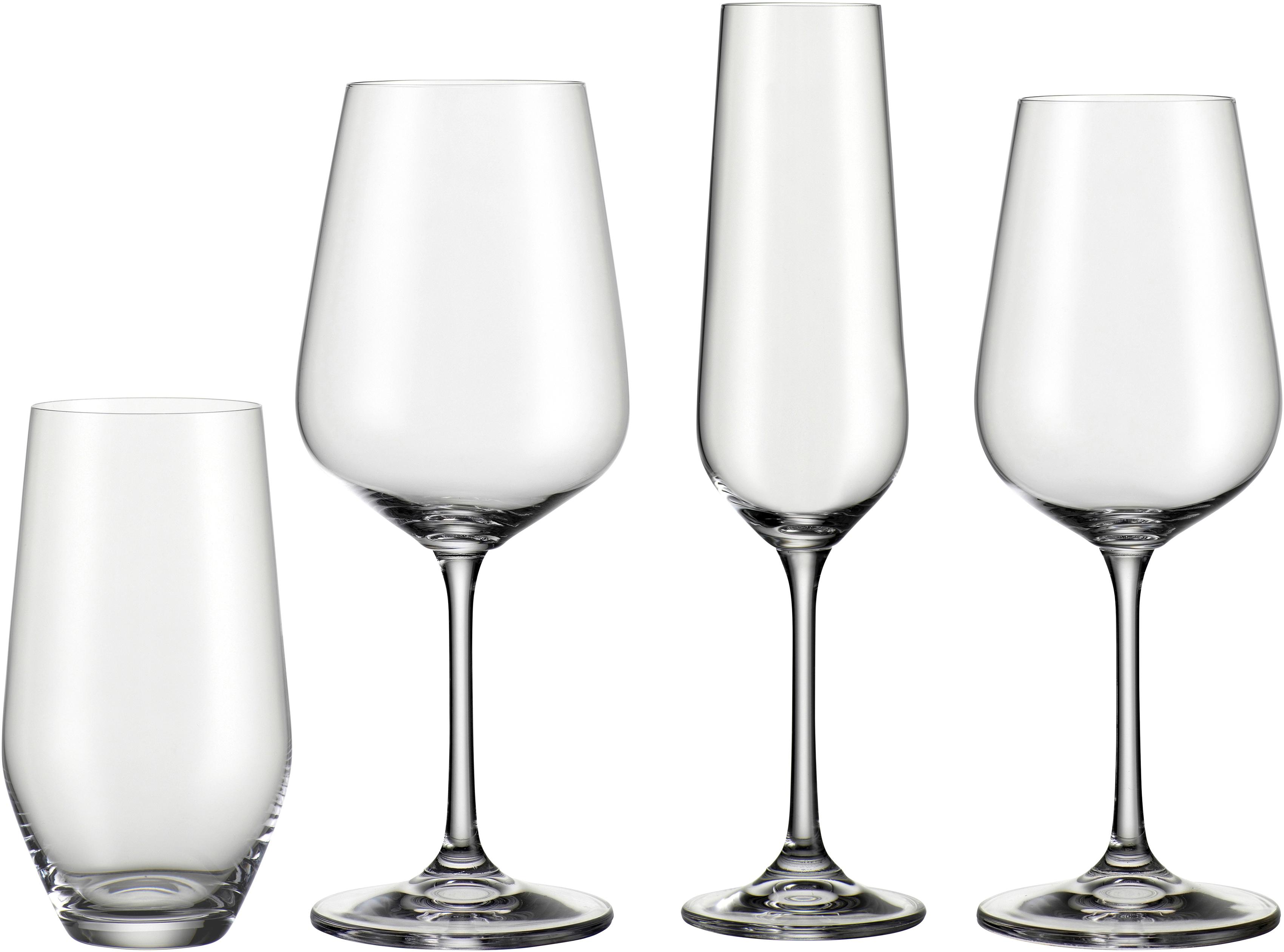 BOHEMIA SELECTION Gläser-Set, (Set, 24 tlg., 6 Rotweinkelche, Weißweinkelche, Sektkelche, Becher) farblos Kristallgläser Gläser Glaswaren Haushaltswaren Gläser-Set