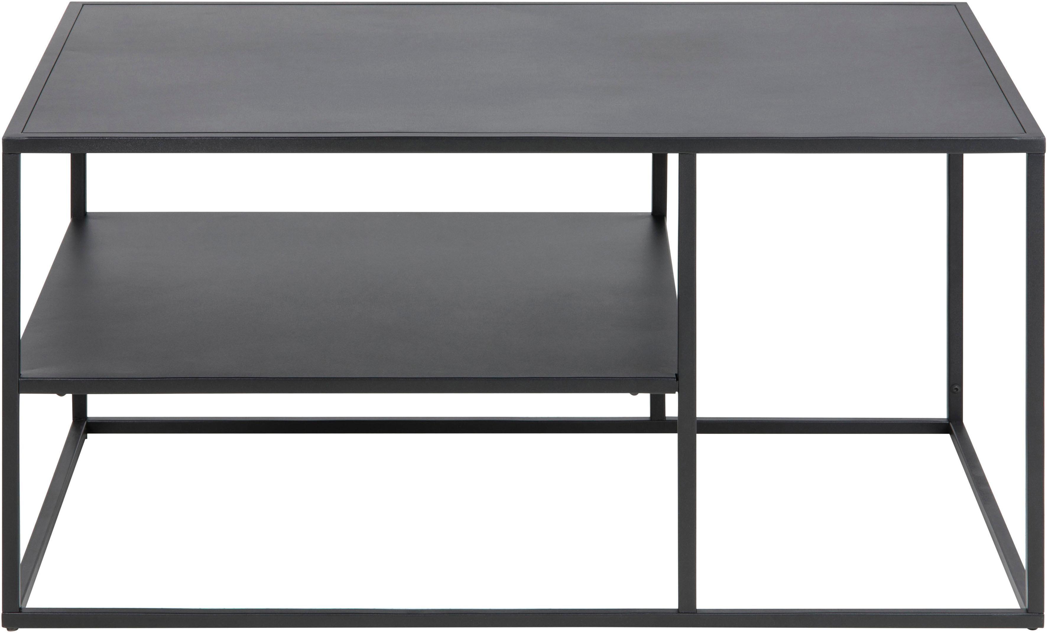 andas Couchtisch Vilho aus einem schönen schwarzen Metallgestell Breite 90 cm