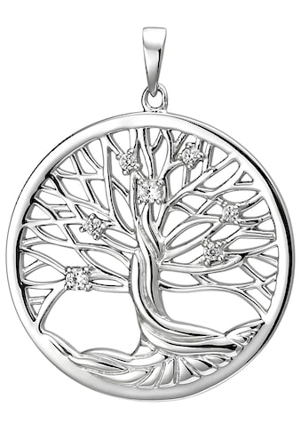 JOBO Kettenanhänger »Lebensbaum«, 925 sterling Silber mit 7 Zirkonia kaufen