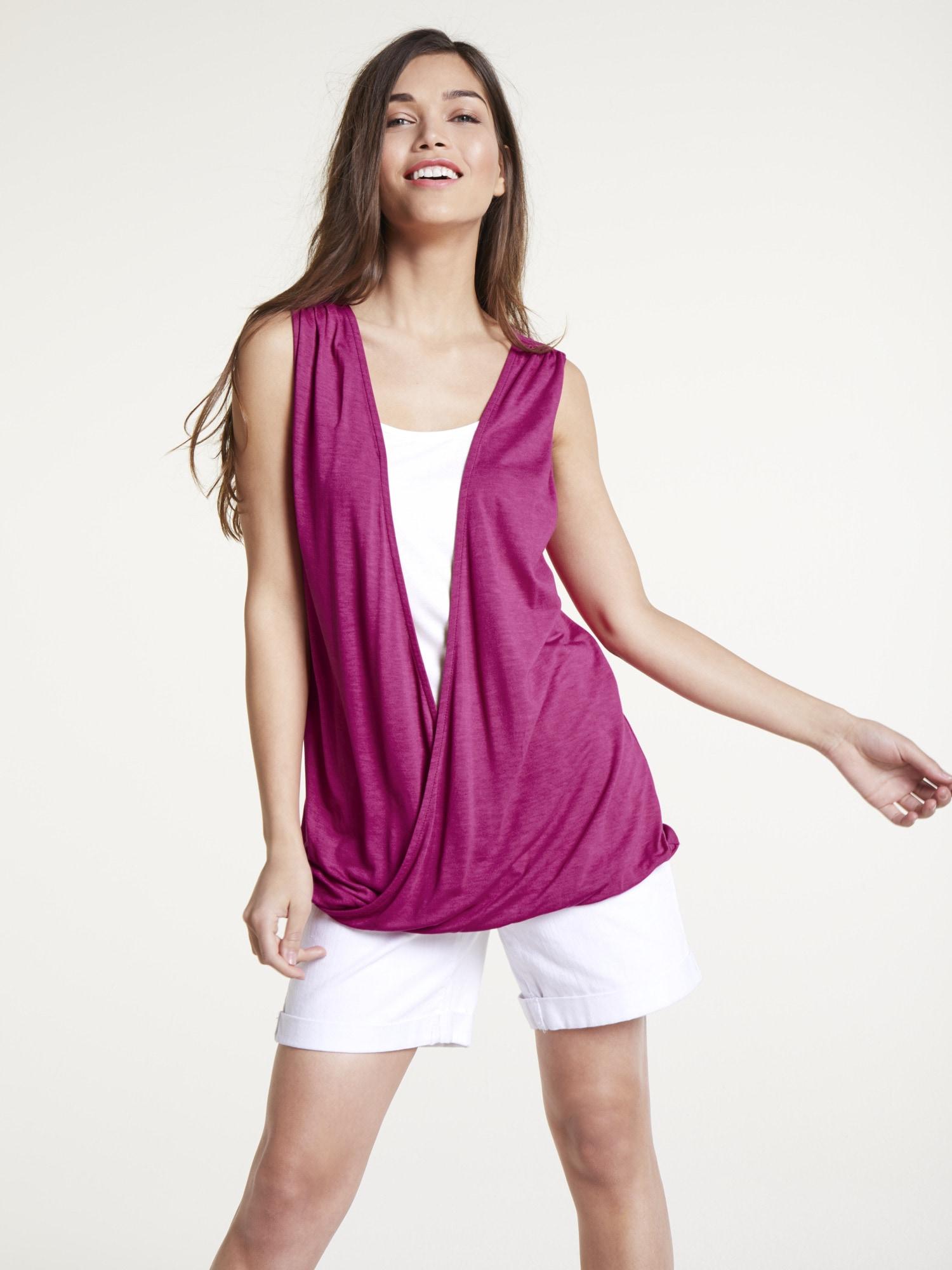 heine CASUAL Shirttop Two-in-One Optik | Bekleidung > Tops > 2-in-1-Tops | Lila | Viskose | Heine Casual
