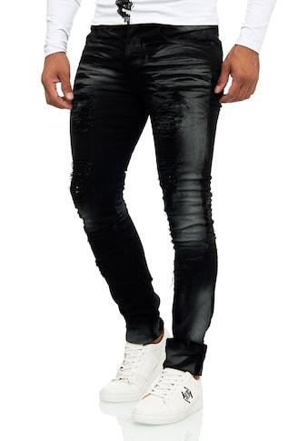 KINGZ Slim-fit-Jeans, im Destroyed-Look mit auffälliger Waschung kaufen