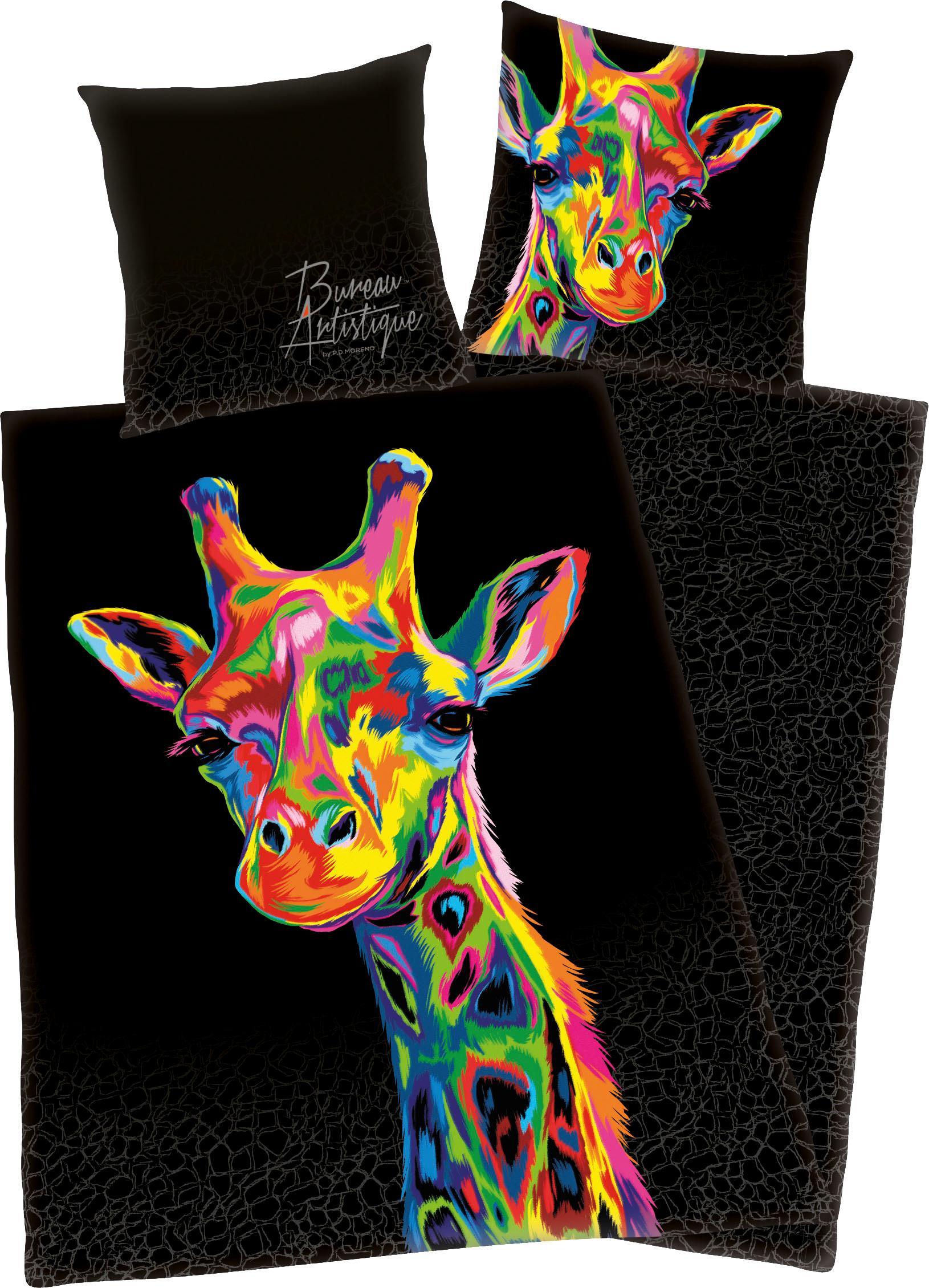 Wendebettwäsche Giraffe