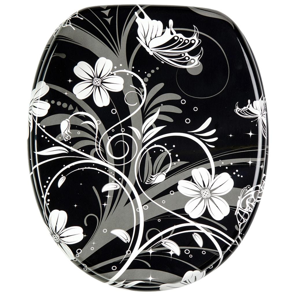 Sanilo WC-Sitz »White Flower«, mit Absenkautomatik