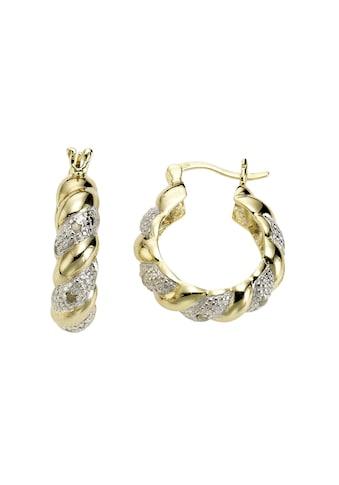 Diamonds by Ellen K. Creolen »925/ -  Sterling Silber Diamant 0,13ct.« kaufen