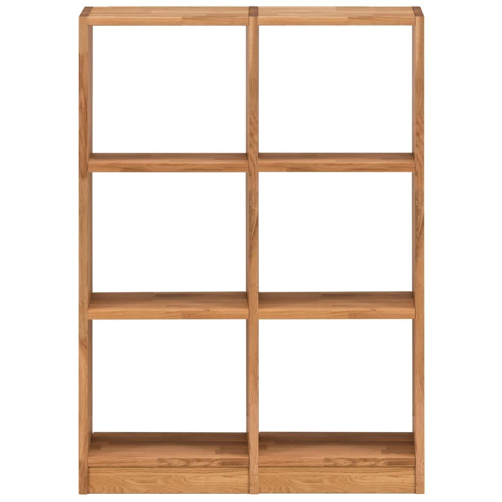 Premium collection by Home affaire Regalelement »Ecko«, aus schönem massivem Wildeichenholz, Breite 91,5 cm, mit 6 Fächern