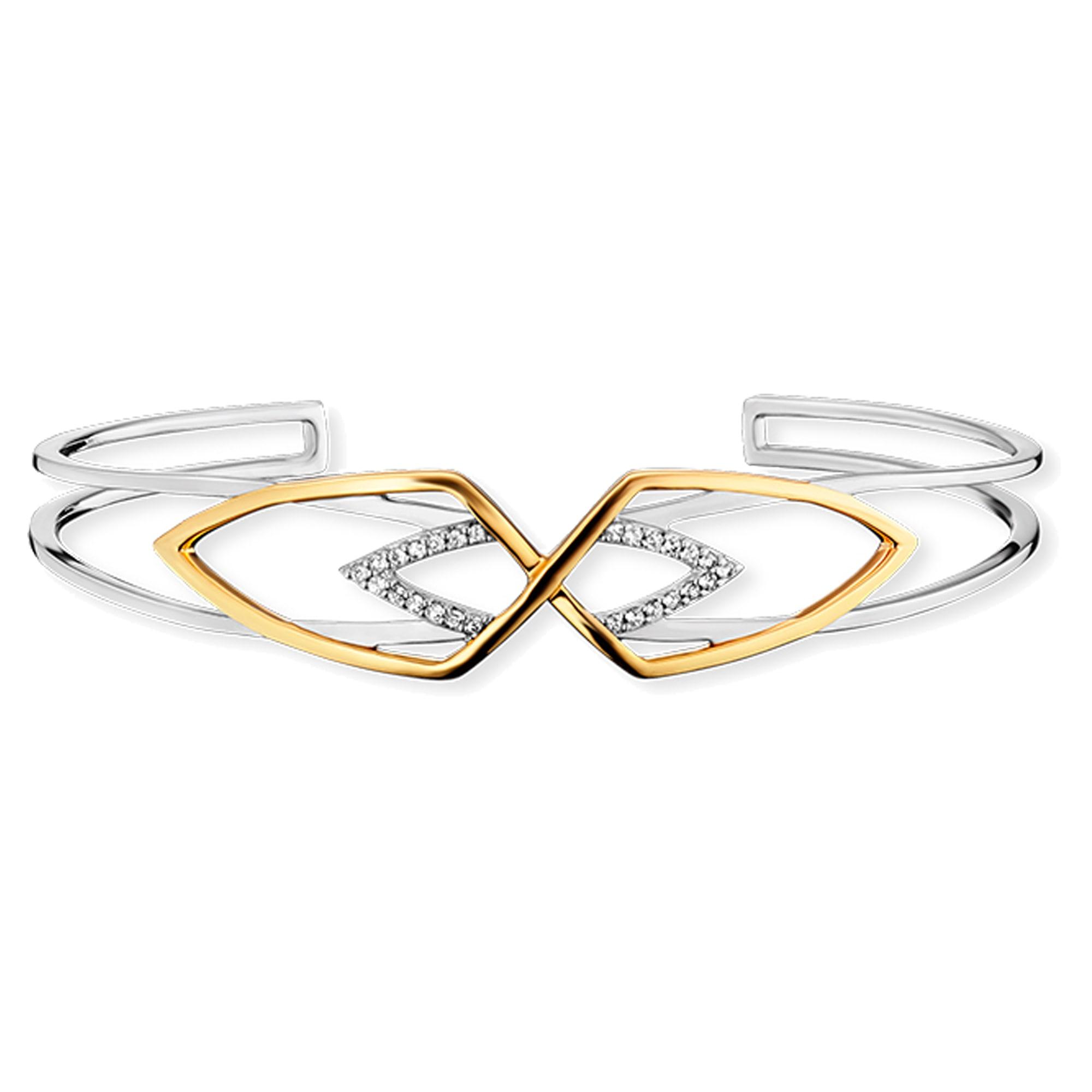 CAÏ Armreif 925/- Sterling Silber zweifarbig Topas | Schmuck > Armbänder > Armreifen | Caï