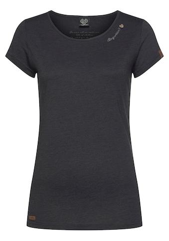 Ragwear T-Shirt »MINT«, mit Zierknopf-Applikation kaufen