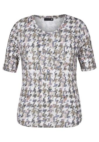 Thomas Rabe Print-Shirt, mit Rundhalsausschnitt und Allover-Muster kaufen