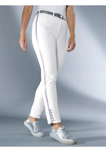 MIAMODA Hose mit Glitzerband seitlich am Bein kaufen