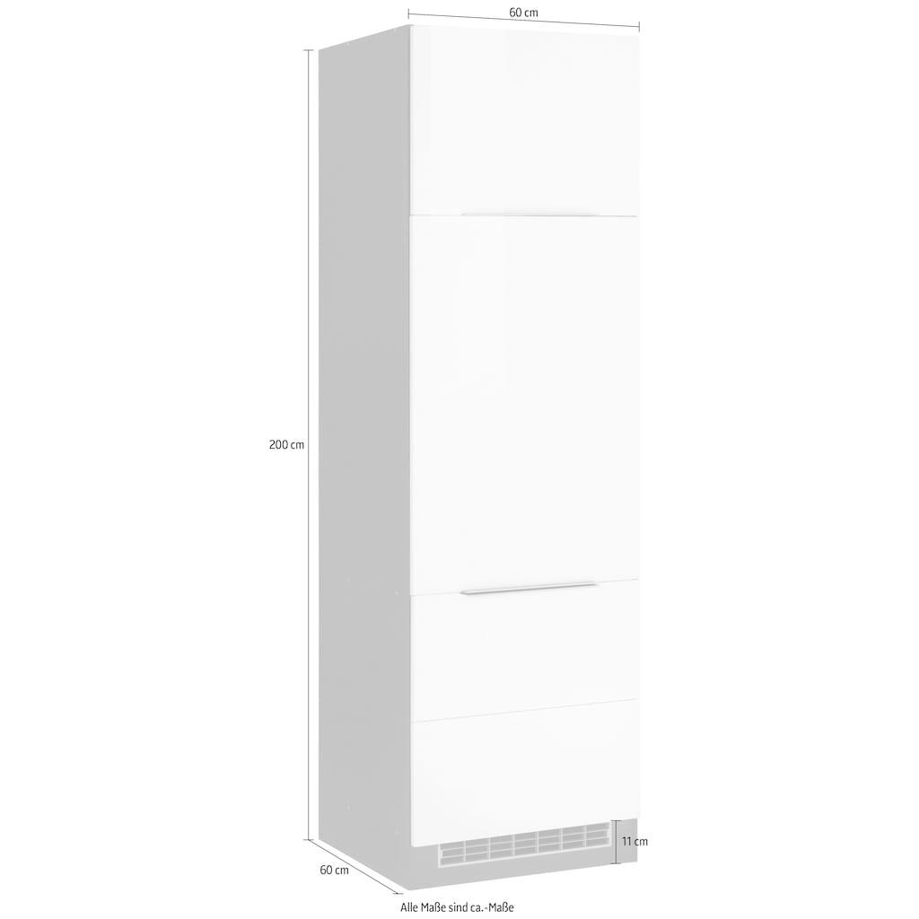 HELD MÖBEL Kühlumbauschrank »Brindisi«, 60 cm breit, 200 cm hoch, hochwertige MDF Fronten