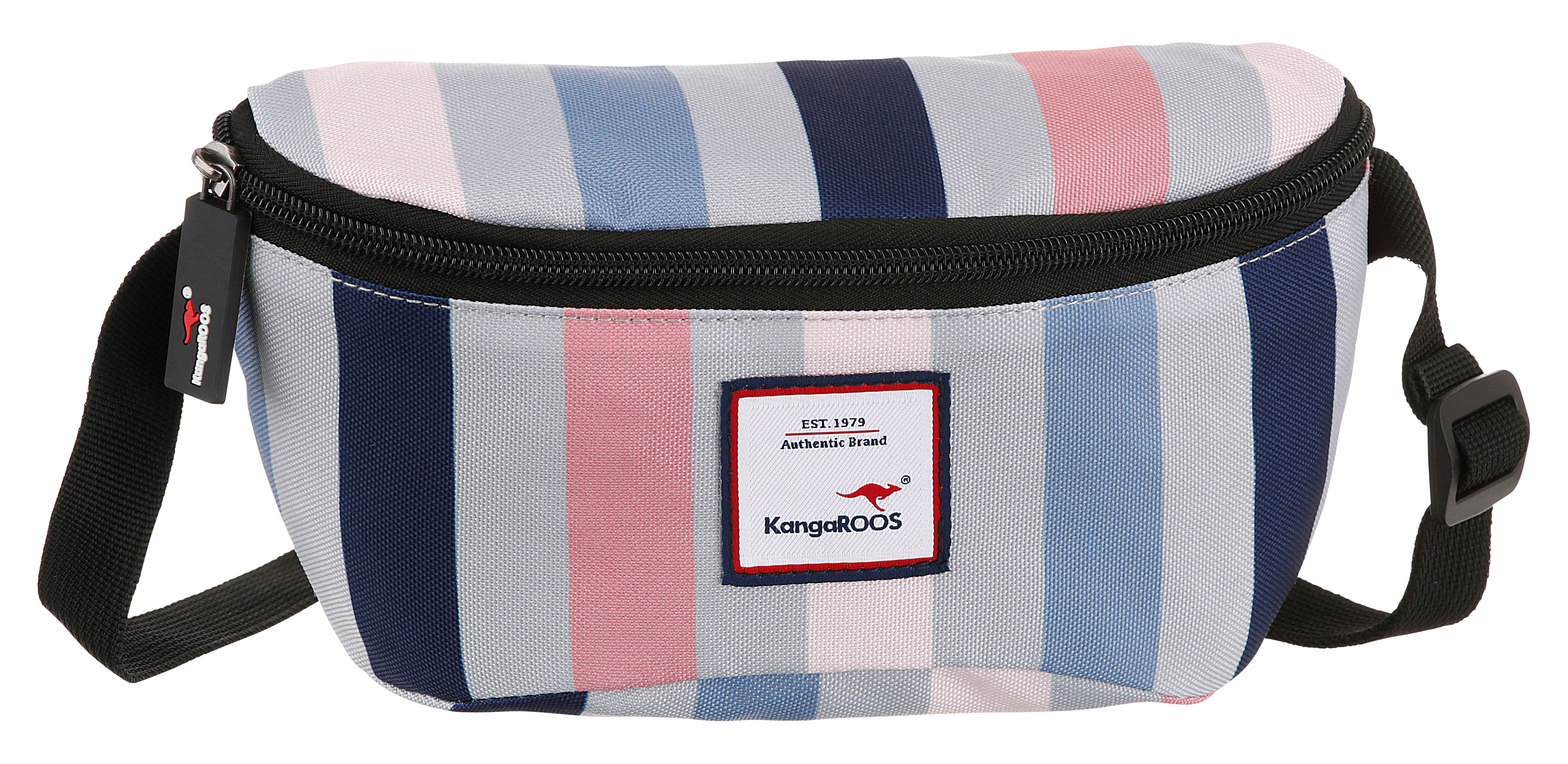 kangaroos -  Bauchtasche, mit praktischem Reißverschluss-Rückfach