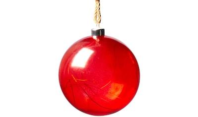 LED Dekoobjekt »Weihnachtskugel«, Warmweiß, mit innenliegender Lichterkette und Timer kaufen