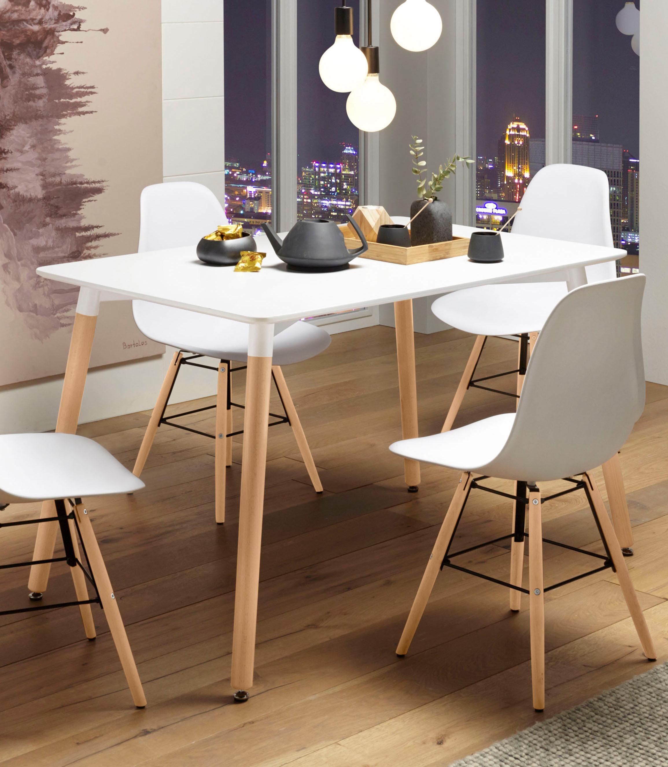 Paroli Esstisch, Breite 120 cm weiß Esstisch Ausziehbare Esstische Tische
