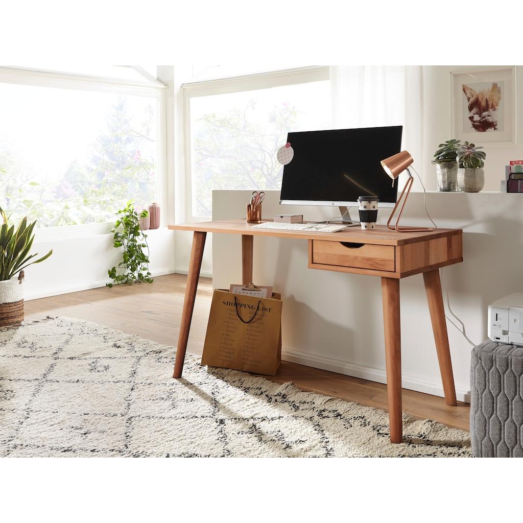 Premium collection by Home affaire Schreibtisch »Anton«, aus Massivholz, hochwertig verarbeitet