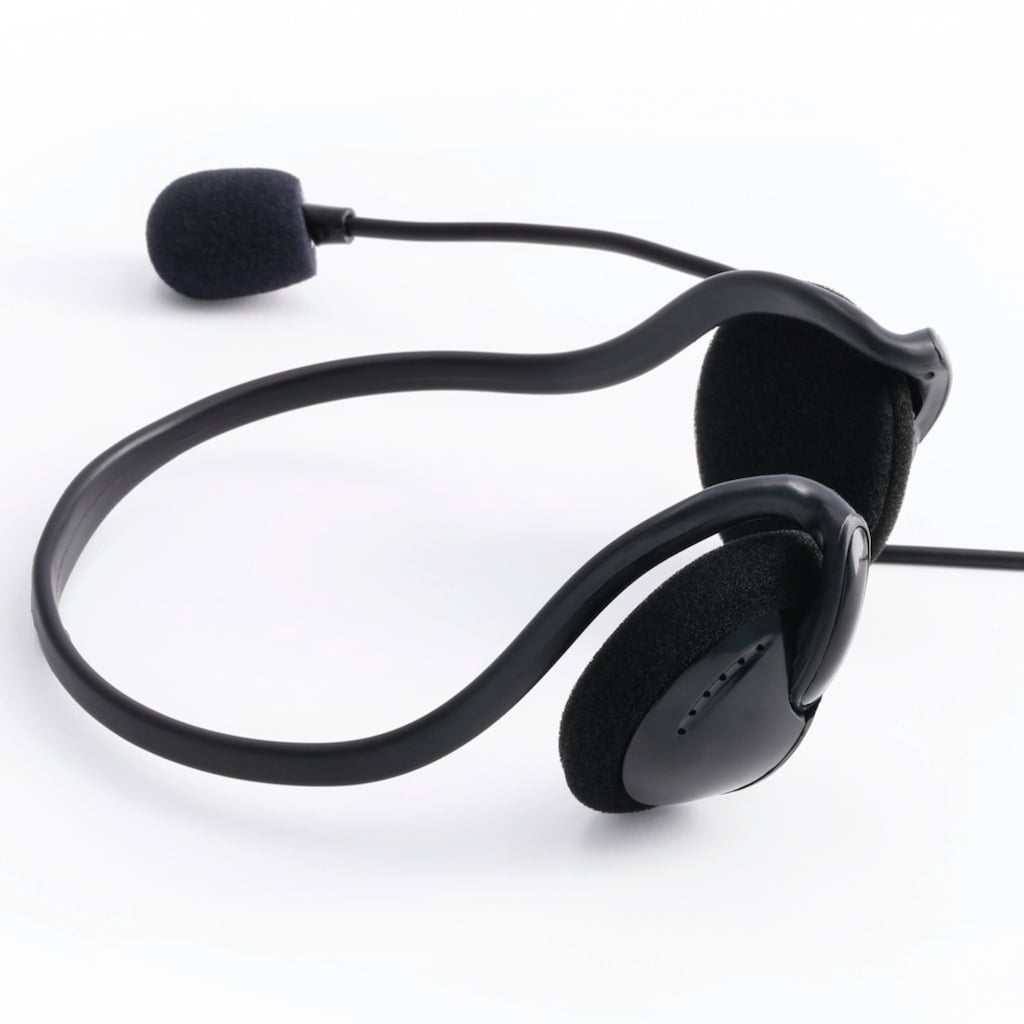 """Hama PC-Office-Headset """"NHS-P100"""" mit Neckband, Stereo, Sch"""