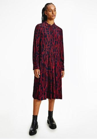 Tommy Hilfiger Blusenkleid »VIS KNEE F&F DRESS BRACELET SLV«, mit Buchstabenprint kaufen
