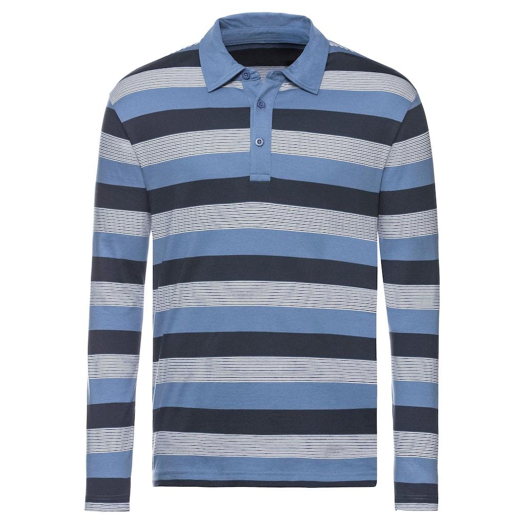 Catamaran Langarm-Shirt mit kurzer Knopfleiste