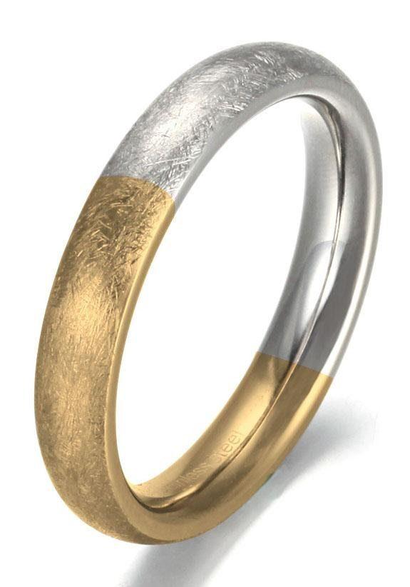 Firetti Fingerring 40 mm glanz/matt bicolor | Schmuck > Ringe > Fingerringe | Firetti