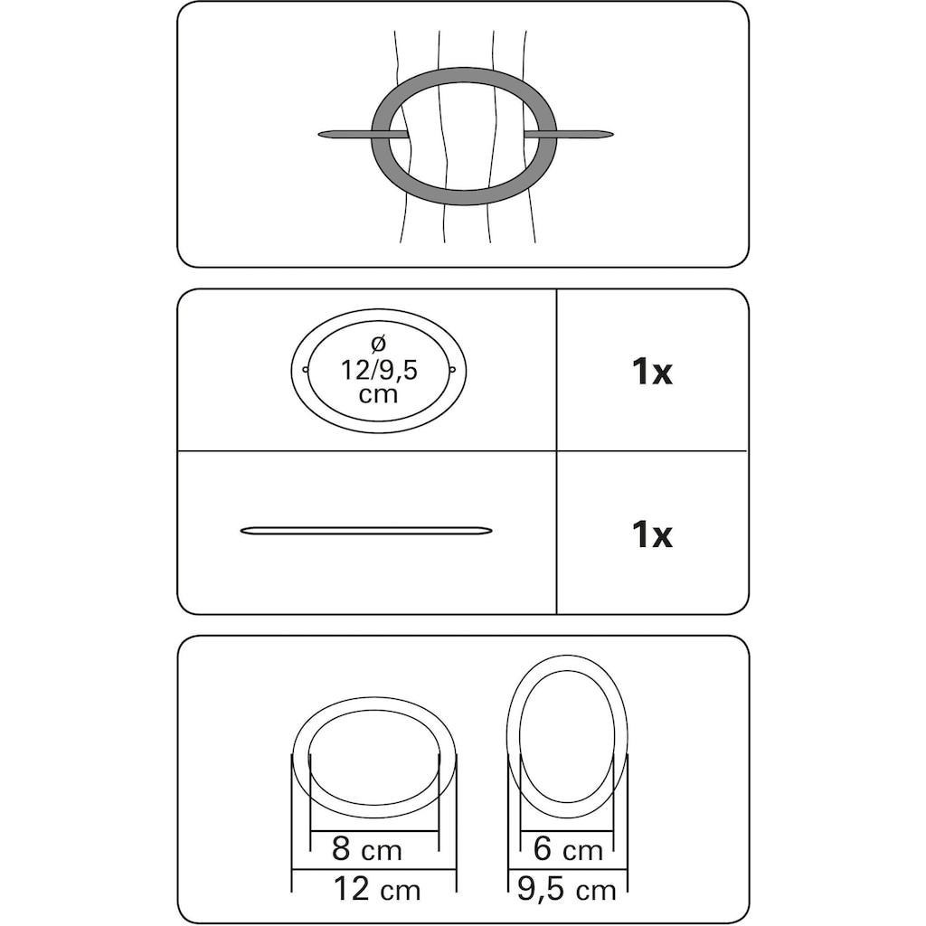 GARDINIA Dekoklammer »Dekoring Oval, Holz«, (1 St.)