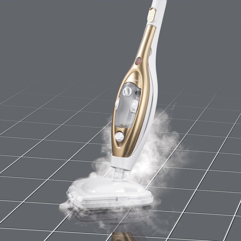 CLEANmaxx Dampfbesen »1300W gold/weiß«, mit Gelenk