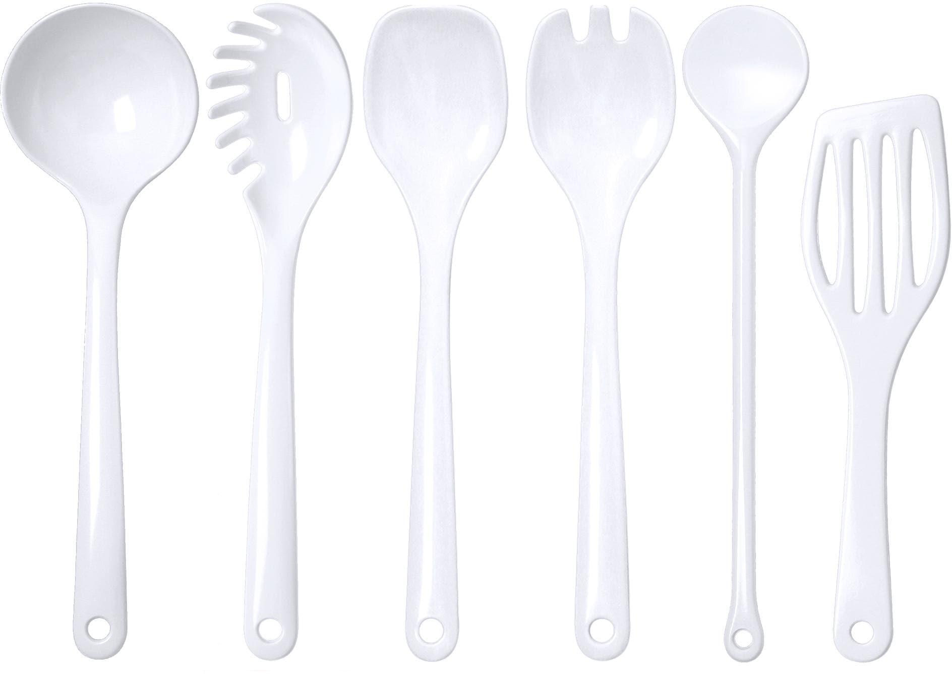 WACA Kochbesteck-Set, (Set, 6 tlg.) weiß Kochbesteck-Set Kochbesteck Besteck Messer Haushaltswaren