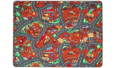 Primaflor-Ideen in Textil Kinderteppich »BAUSTELLE«, rechteckig, 5 mm Höhe, Straßen-Spielteppich kaufen