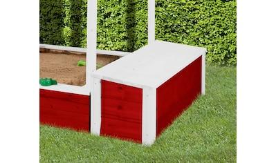 WEKA Truhe »Tabaluga«, BxTxH: 120x36x34 cm mit Deckel, rot kaufen