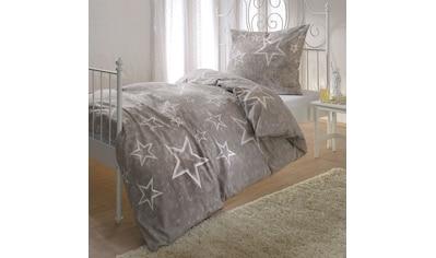 BETTWARENSHOP Bettwäsche »Sterne taupe«, warme weiche Kuschelsterne kaufen