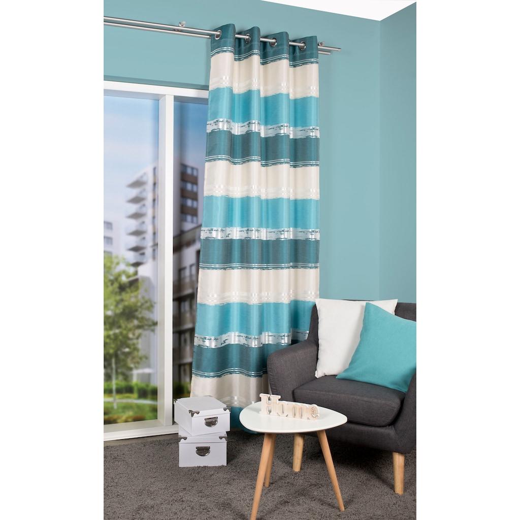 HOME WOHNIDEEN Vorhang »MATIKA«, Ikat Optik