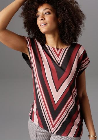 Aniston SELECTED T-Shirt, im modischen Streifen kaufen