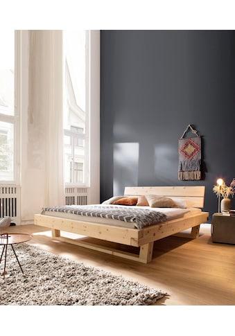 Premium collection by Home affaire Massivholzbett »Ultima«, aus schönem duftendem massivem Zirbenholz, in unterschiedlichen Bettbreiten erhältlich kaufen