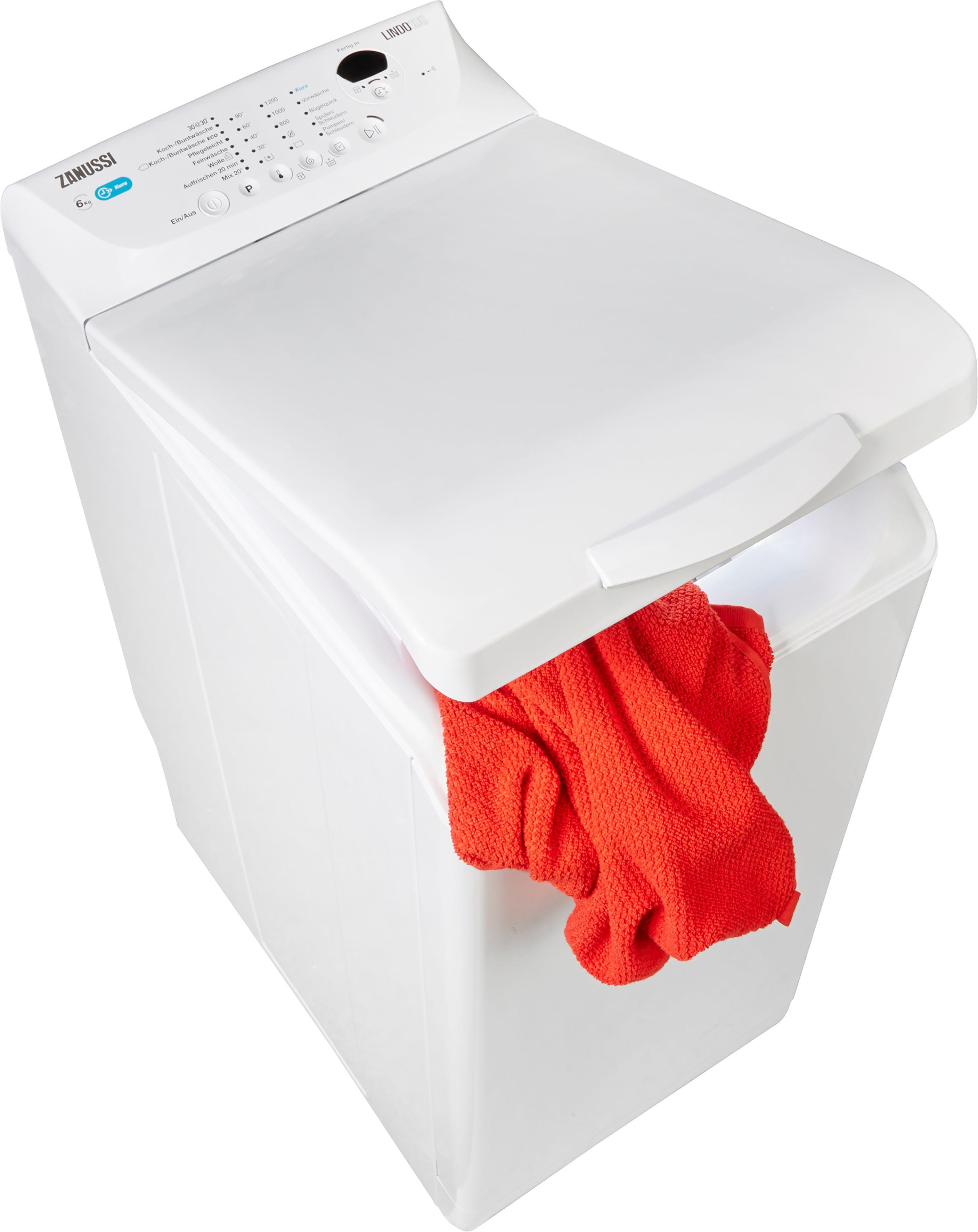 Zanussi Waschmaschine Toplader ZWQ61235CI | Bad > Waschmaschinen und Trockner > Toplader | Weiß | Zanussi