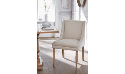 Guido Maria Kretschmer Home&Living 4-Fußstuhl »Davit«, mit schöner Sitzpolsterung und geschwungenen, anliegenden Armlehnen kaufen