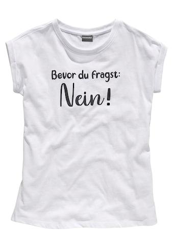 KIDSWORLD T-Shirt »Bevor Du fragst:  NEIN!«, in weiter legerer Form kaufen
