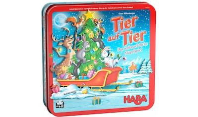 """Haba Spiel, """"Tier auf Tier – Das weihnachtliche Stapelspiel"""" kaufen"""