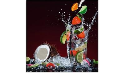 Artland Glasbild »Frischer Fruchtcocktail V«, Getränke, (1 St.) kaufen