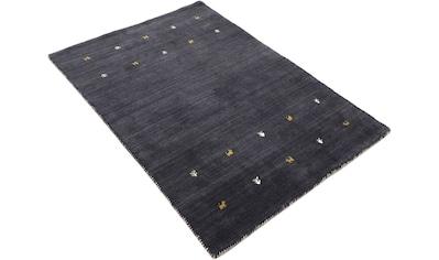 carpetfine Wollteppich »Gabbeh Uni«, rechteckig, 15 mm Höhe, reine Wolle, handgewebt, Gabbeh Tiermotiv, Wohnzimmer kaufen