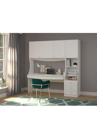"""Schreibtisch »Austra«, Schreibtisch """"Austra"""" mit Hängeschrank, Breite 157 cm kaufen"""