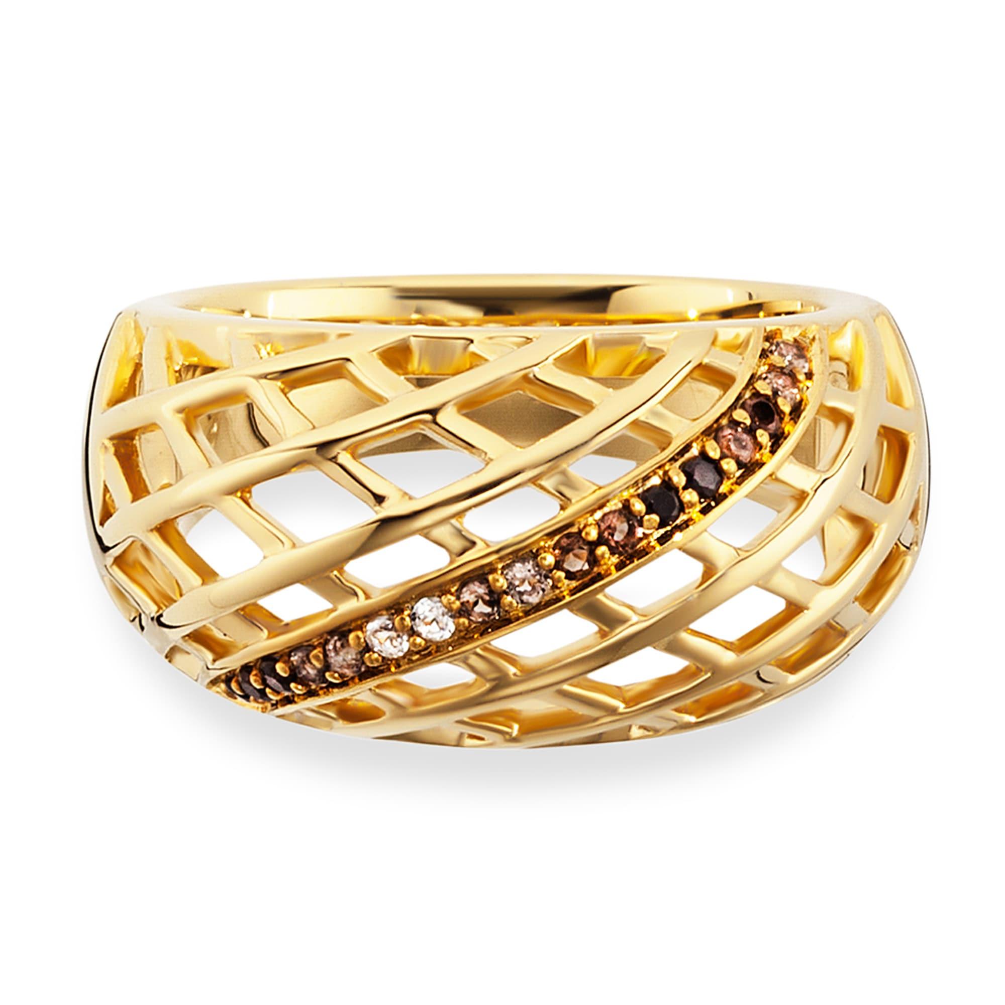 CAÏ Ring 925/- Sterling Silber vergoldet Topas   Schmuck > Ringe > Silberringe   Gelb   Caï